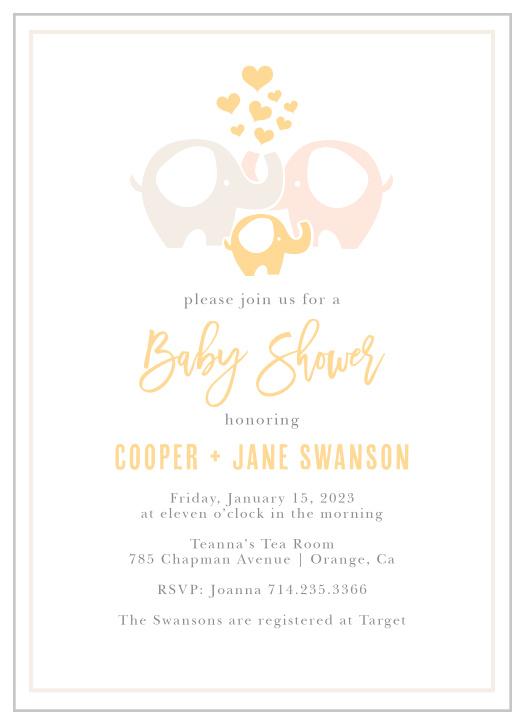 Baby Shower Invitations | 40% Off Super Cute Designs - Basic