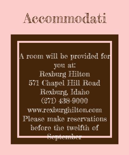 Polka Dot Passion Accommodation Cards