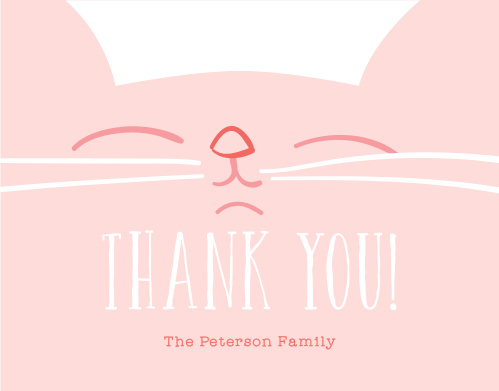 Kitty Kat Thank You Cards