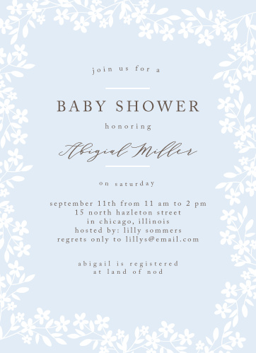 floral baby shower invitations match your color style free