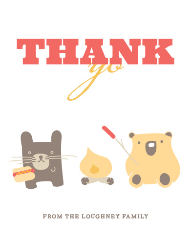 Cozy Cookout Baby Shower Thank You Cards