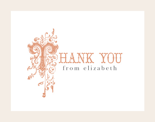 Once Upon A Time Foil Thank You Cards