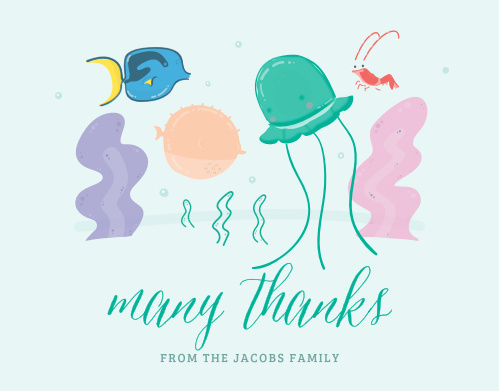 Fish Frenzy Thank You Cards