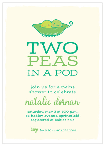 photo regarding Free Printable Twin Baby Shower Invitations identified as Little one Shower Invites for Twins Easy Invite