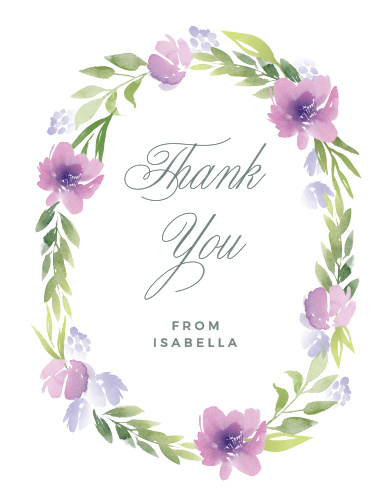 Floral Delight Baby Shower Thank You Cards
