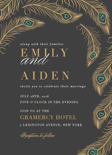 Peacock Wedding Invitations Match Your Color Style Free