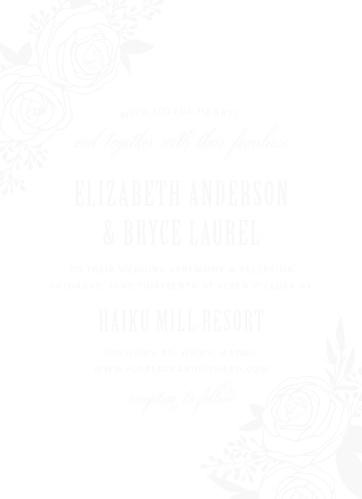 Rustic Flowers Clear Wedding Invitations