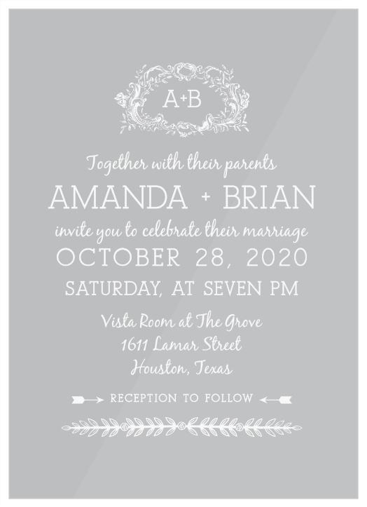 Clear Wedding Invitations, Transparent Wedding Invitations