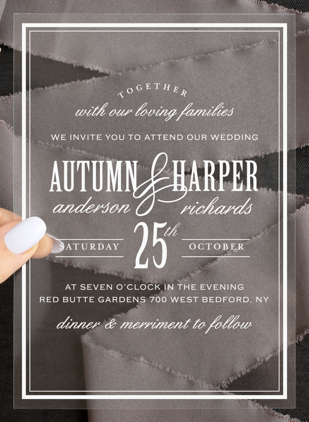 Antique Luxury Clear Wedding Invitation