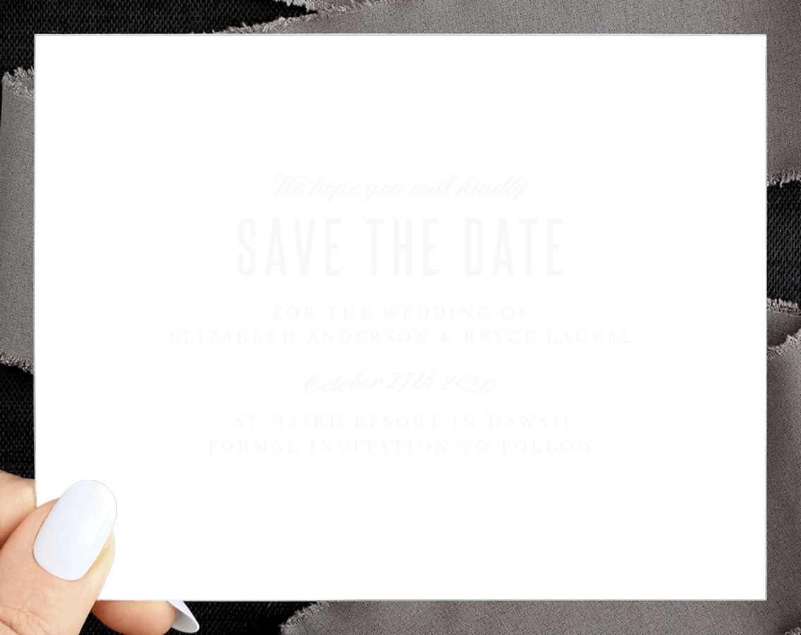 Floral Border Clear Save the Date Cards