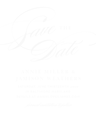 stylish script free save the date card template.html