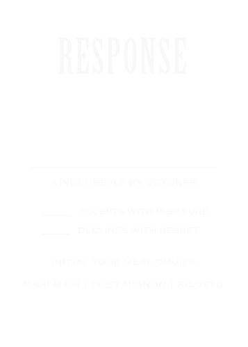 Antique Elegance Clear Response Cards