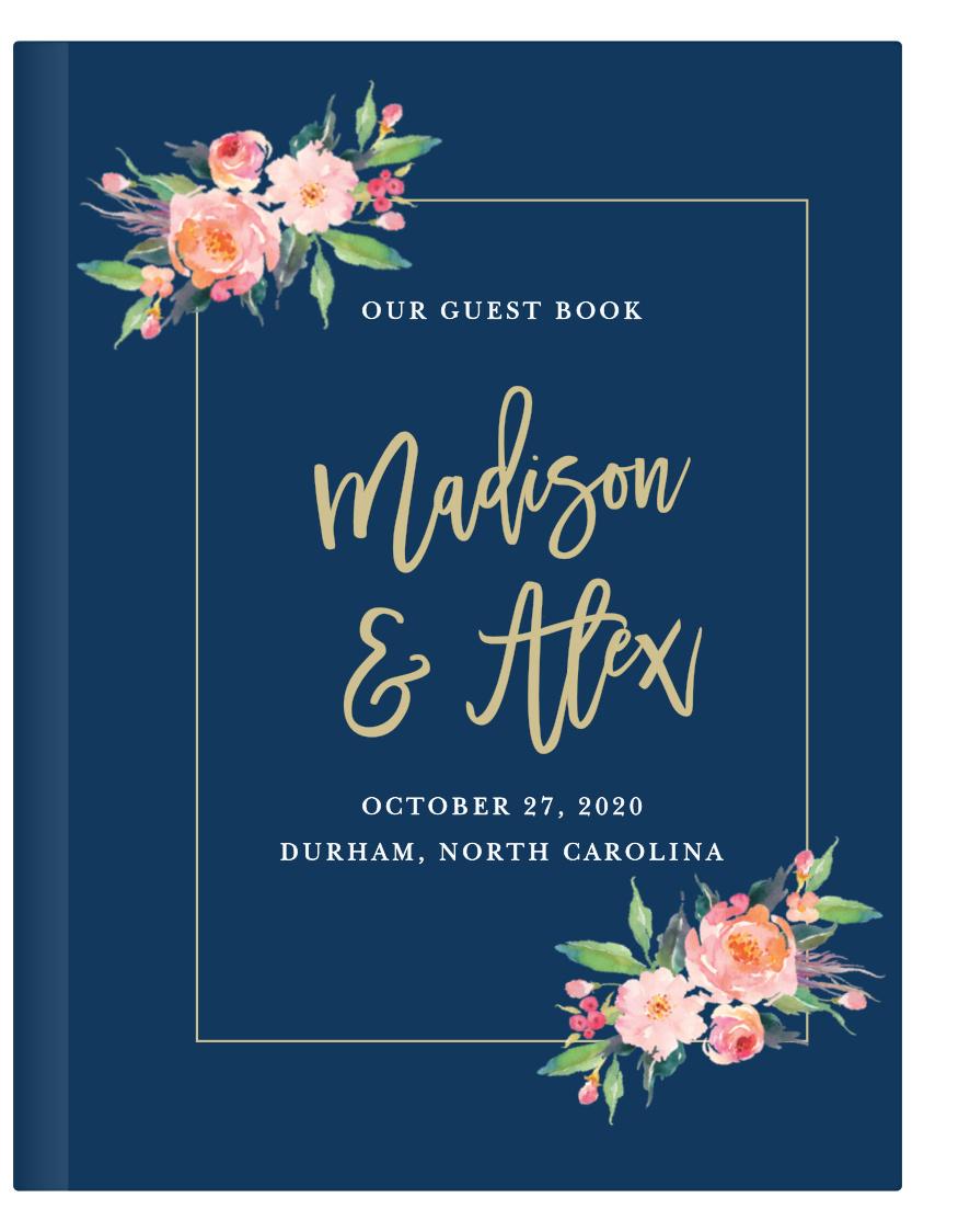 Elegant Script Wedding Logo Guest Book GB92 Alternative Signature Guest Book Ideas for Wedding SALE 50/% Off Monogram Canvas Guest Book