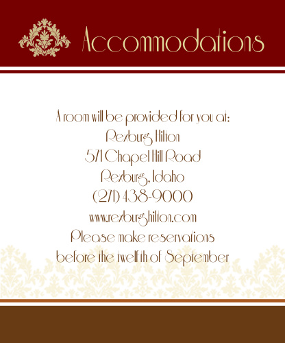 Old Fashioned Charm Accommodation Cards