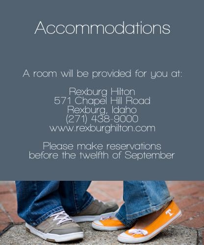 True Love Story Accommodation Cards