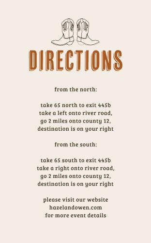 Desert Sky Direction Cards