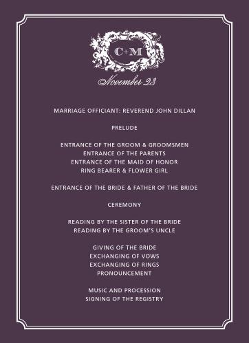 Style & Grace Wedding Programs