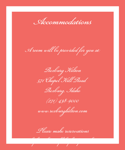 Photo Perfection Accommodation Cards