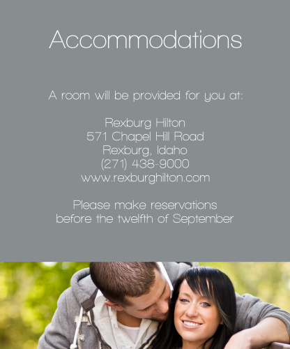 Sheer Stripe Accommodation Cards