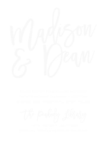Marker Script Clear Wedding Invitations