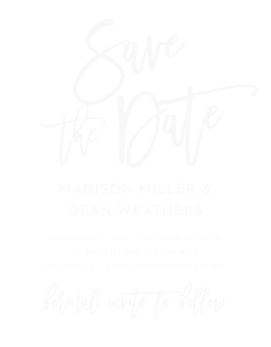 901361fe30eb Marker Script Clear Save-the-Date Cards