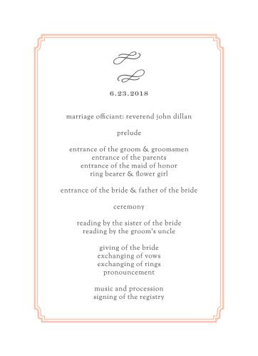 Utterly Chic Wedding Programs