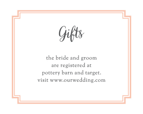 Utterly Chic Registry Cards
