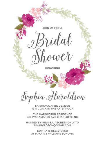wedding shower invitations template
