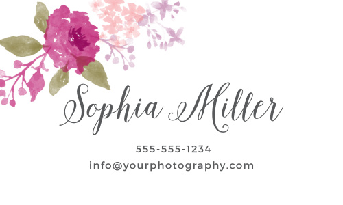 Watercolor Business Cards Match Your Color Style Free
