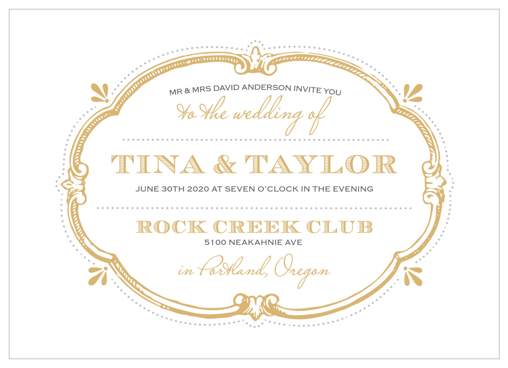 graphic regarding Printable Labels for Wedding Invitations named Traditional Label Foil Wedding day Invites