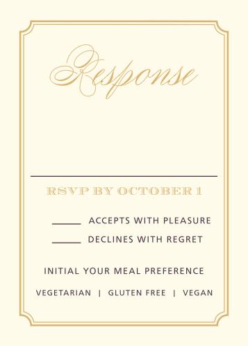 Style & Grace Foil Response Cards