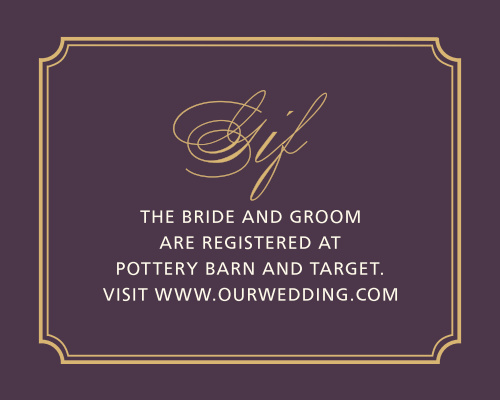 Style & Grace Foil Registry Cards