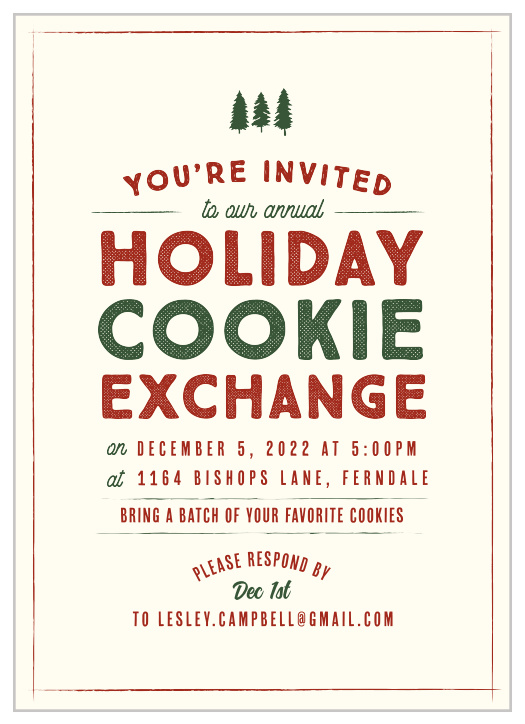 2020 Christmas Party Invitations Match Your Color Style Free Basic Invite
