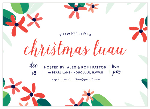 Christmas In Hawaii Party.Totally Tropical Christmas Party Invitations By Basic Invite