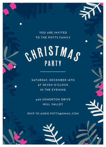 Christmas Party Invitation.2019 Christmas Party Invitations Match Your Color Style