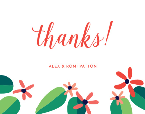 Luau Thank You Cards Match Your Color Style Free