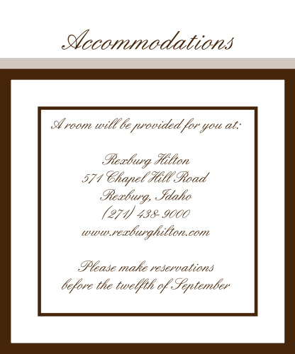Victorian Square Accommodation Cards