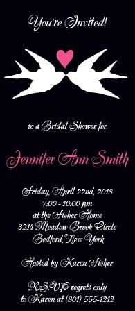 love birds bridal shower invitations by basic invite