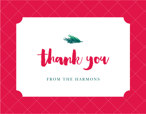 Holiday Party Thank You Cards Match Your Color Style Free