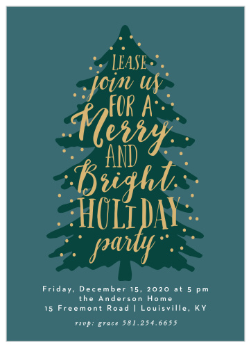 Office Christmas Party Invitation.2019 Holiday Party Invitations Match Your Color Style