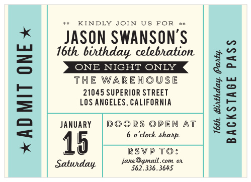 Sweet 16 Invitations | Match Your Color & Style Free