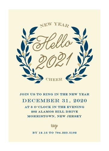 New Years Eve Party Invitations Match Your Color Style Free
