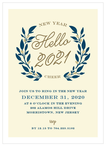 New Years Eve Party Invitations Match Your Color Style