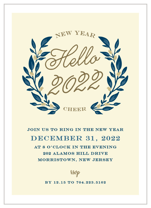 New Years Eve Party Invitations Match Your Color Style Free Basic Invite