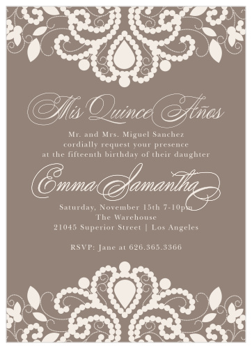 Quinceanera Invitations Match Your Color Style Free
