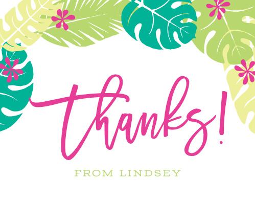 Laulea Luau Thank You Cards