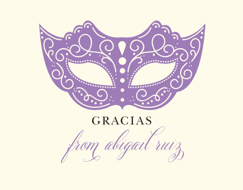 Quinceanera Thank You Cards Match Your Color Style Free
