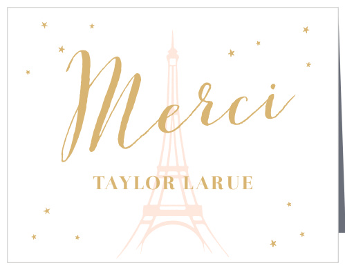 French Thank You Cards - Match Your Color & Style Free!