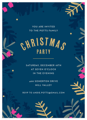 2019 Christmas Party Invitations Match Your Color Style