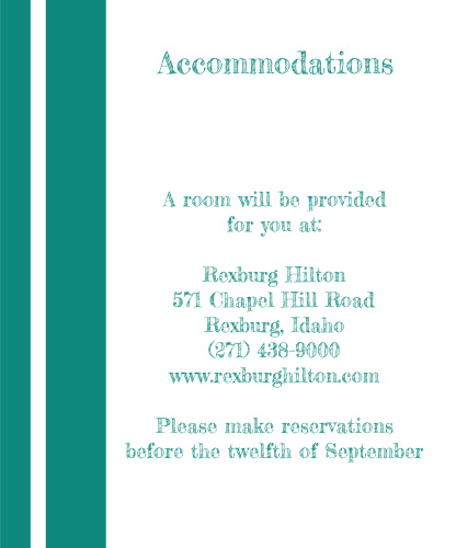 Simple Lines Accommodation Cards